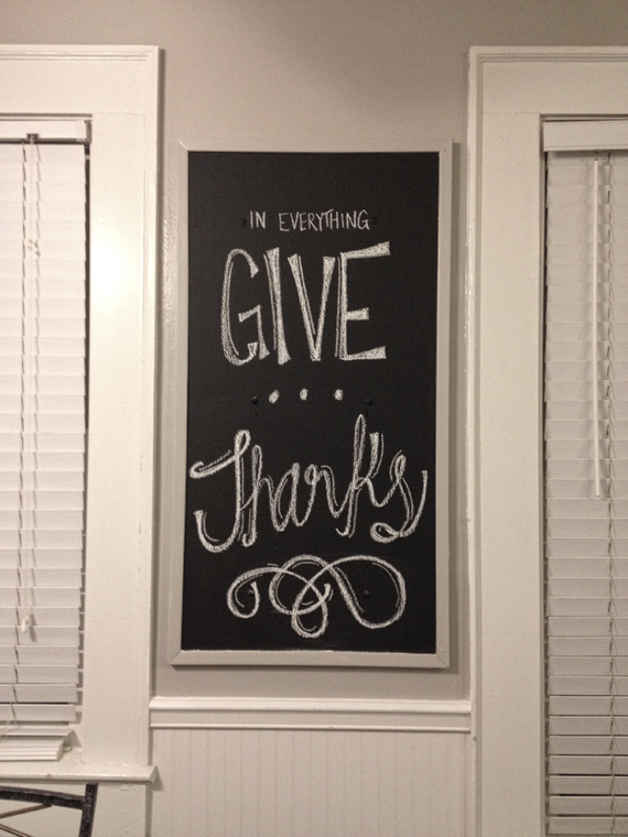 Friendsgiving Chalkboard Art