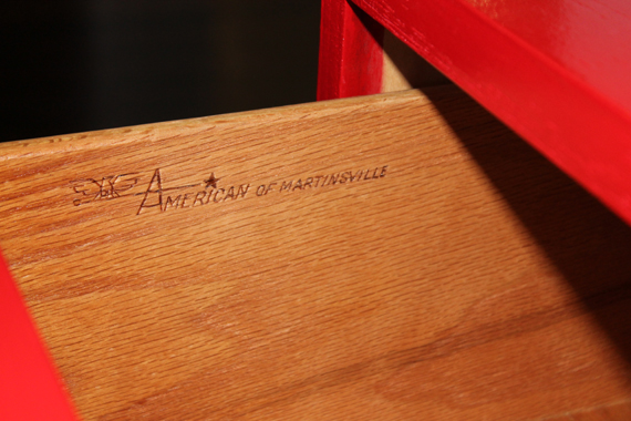 American of Martinsville engraved in 3 drawer chest dresser