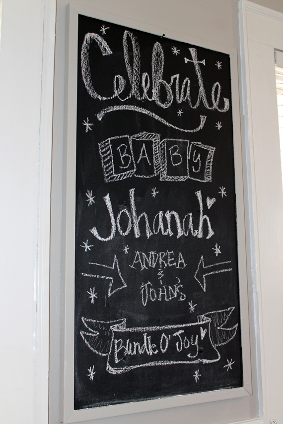 Baby Shower Chalkboard