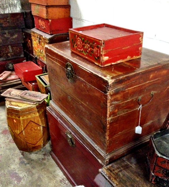 Vintage Wooden Trunks Chests