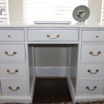 Vintage Desk redone to a Glossy Hollywood Regency style