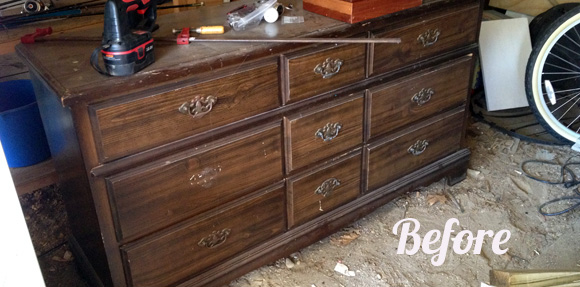 Dresser Upcycle - Before Picture