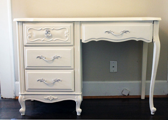French Provincial Desk redone by Happy Chapter