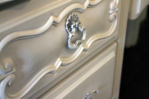 French Provincial Desk Drawers After