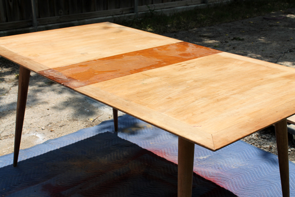 A Mid Century Modern Dining Table Before