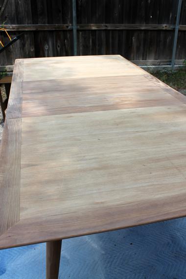 Mid Century Modern Table Sanded 2