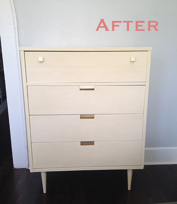 Mid Century Painted Dresser by Happy Chapter