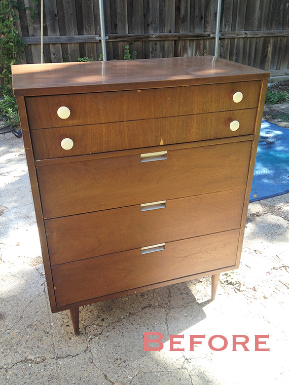 A Midcentury Dresser Before redo by Happy Chapter