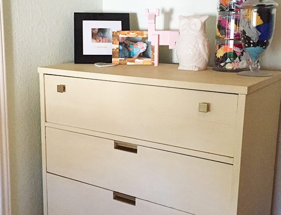Mid Century Painted Dresser by Happy Chapter in Woodland Theme Nursery