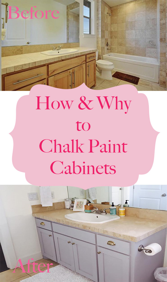 How why to chalk paint your bathroom or kitchen cabinets for Can i paint kitchen cabinets with chalk paint